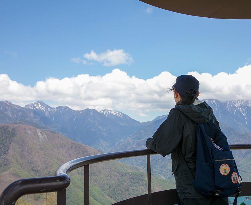 鹿嶺高原キャンプ場からの景色