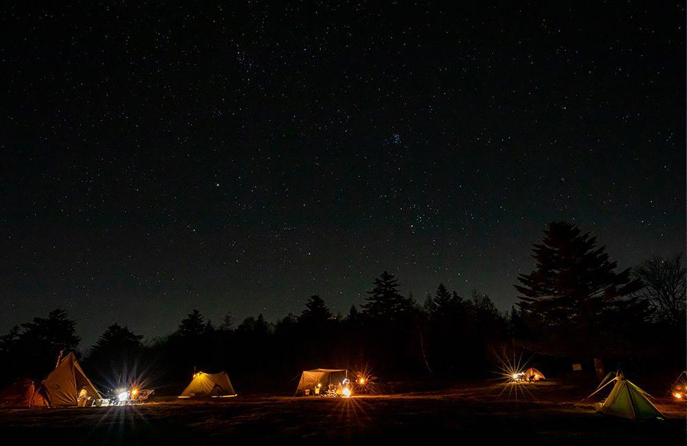 鹿嶺高原キャンプ場の星空